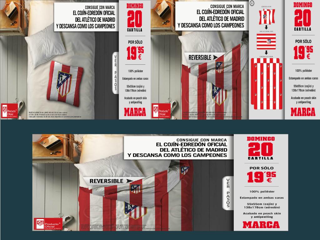 Edredon Atletico.Cojin Edredon Atletico De Madrid Con Marca Por Solo 19 95