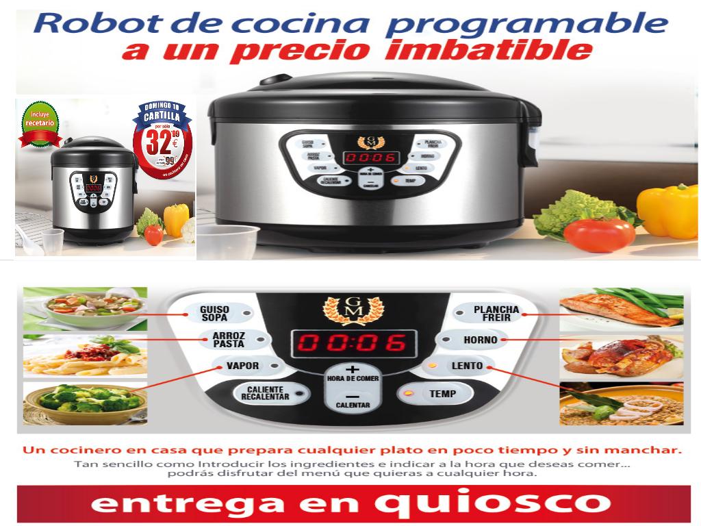Robot Cocina La Razon | Consigue El Robot De Cocina Programable Por 32 99 Quiosco Andino
